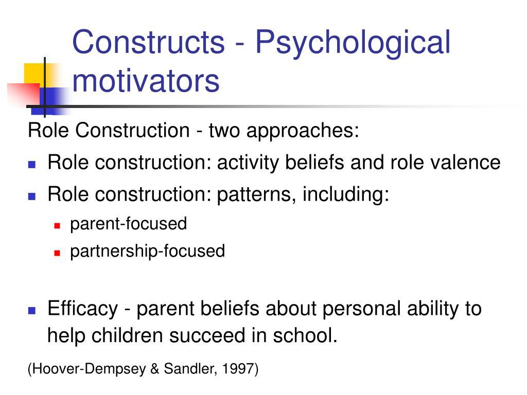 Constructs - Psychological motivators