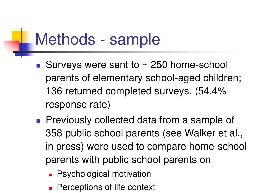 Methods - sample