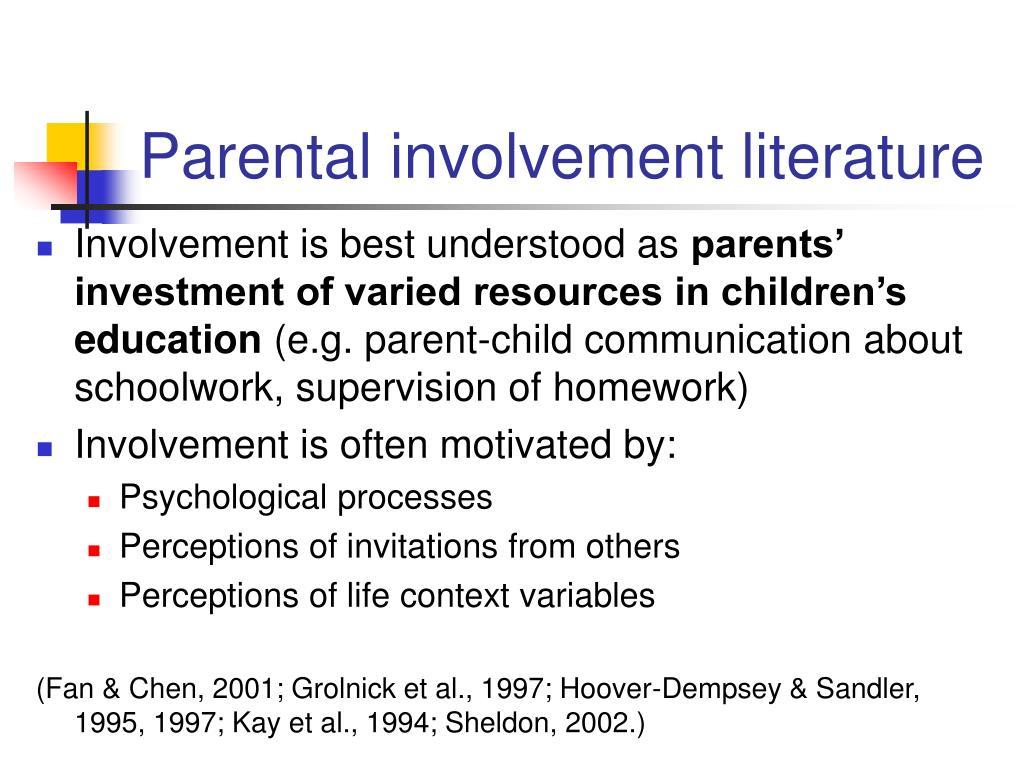Parental involvement literature