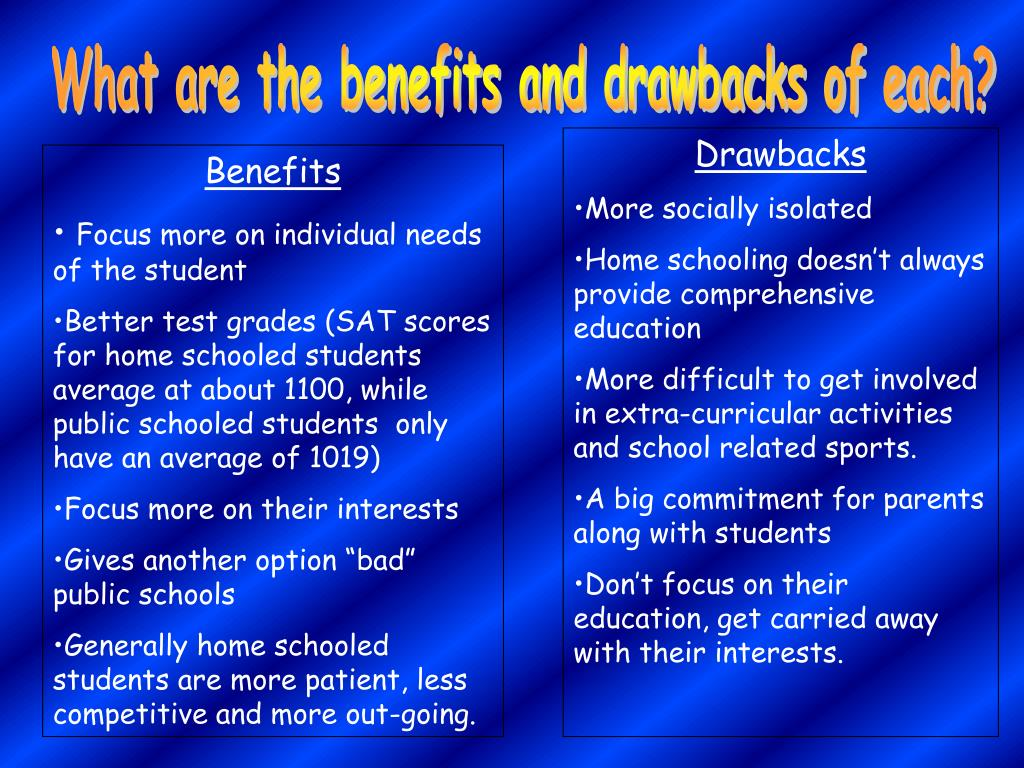 What are the benefits and drawbacks of each?