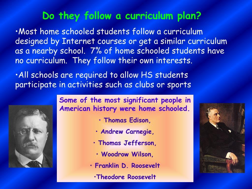 Do they follow a curriculum plan?