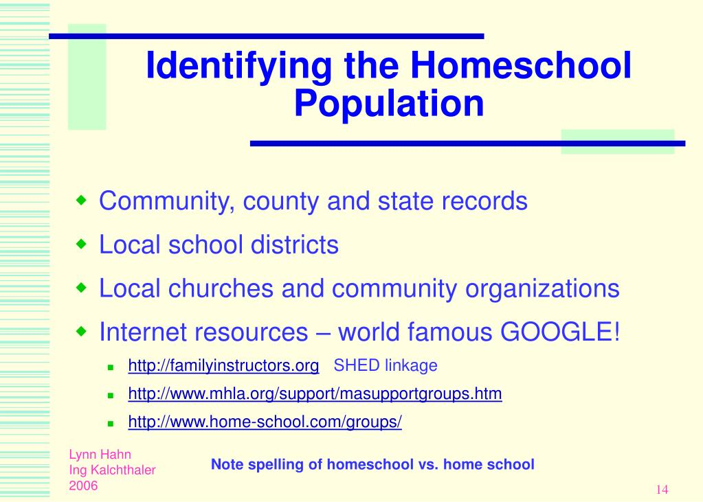 Identifying the Homeschool Population