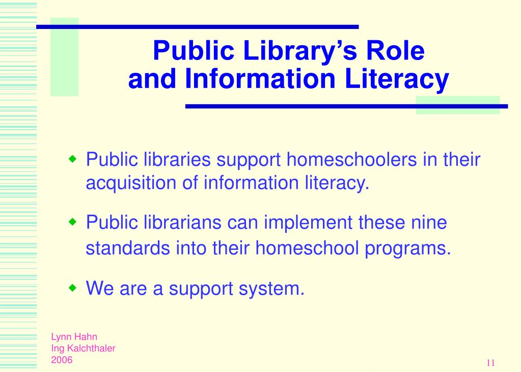 Public Library's Role