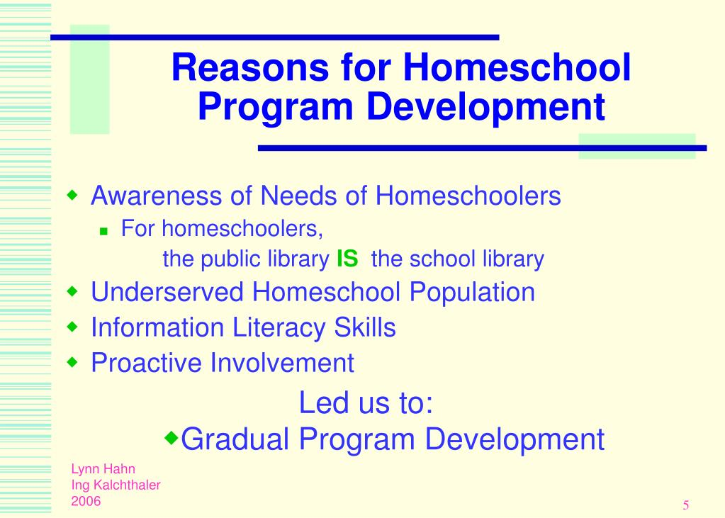 Reasons for Homeschool Program Development