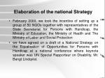elaboration of the national strategy
