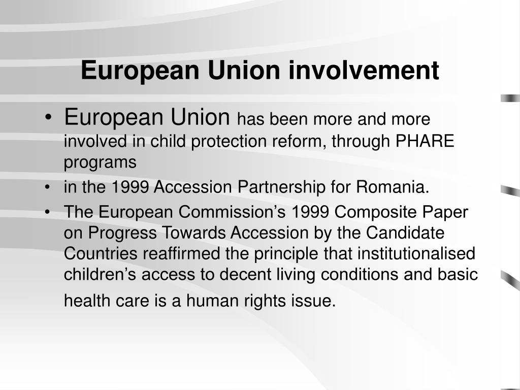 European Union involvement