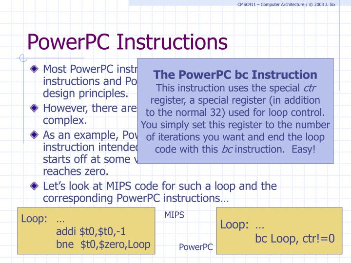 PowerPC Instructions