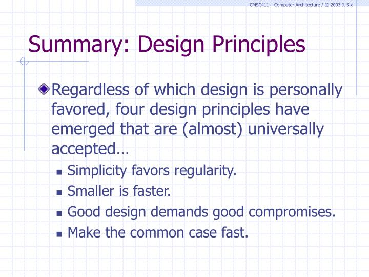 Summary: Design Principles