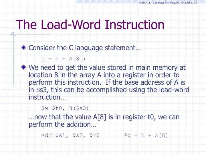 The Load-Word Instruction