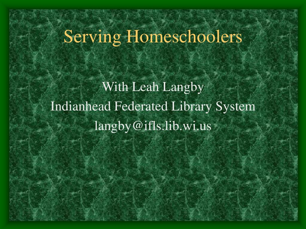 Serving Homeschoolers