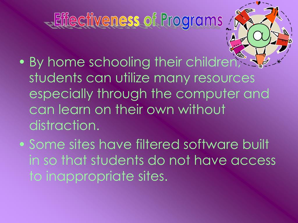 Effectiveness of Programs