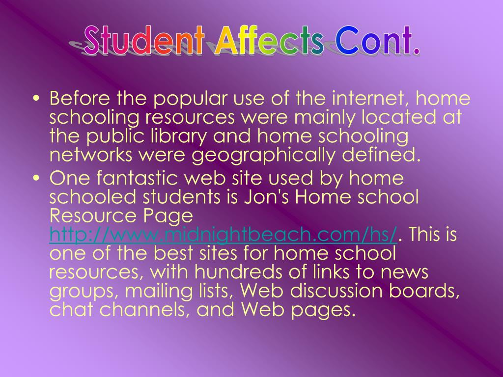 Student Affects Cont.