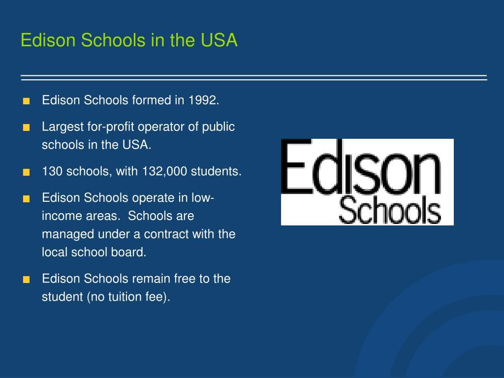 Edison Schools in the USA