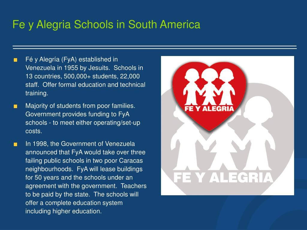 Fe y Alegria Schools in South America