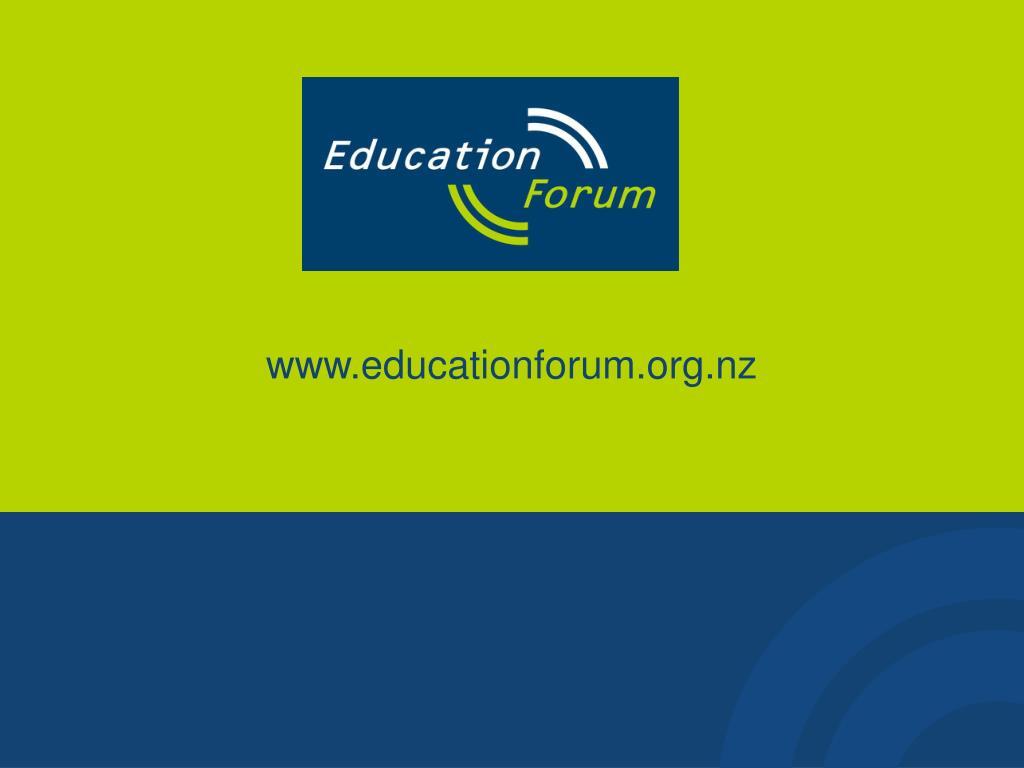 www.educationforum.org.nz