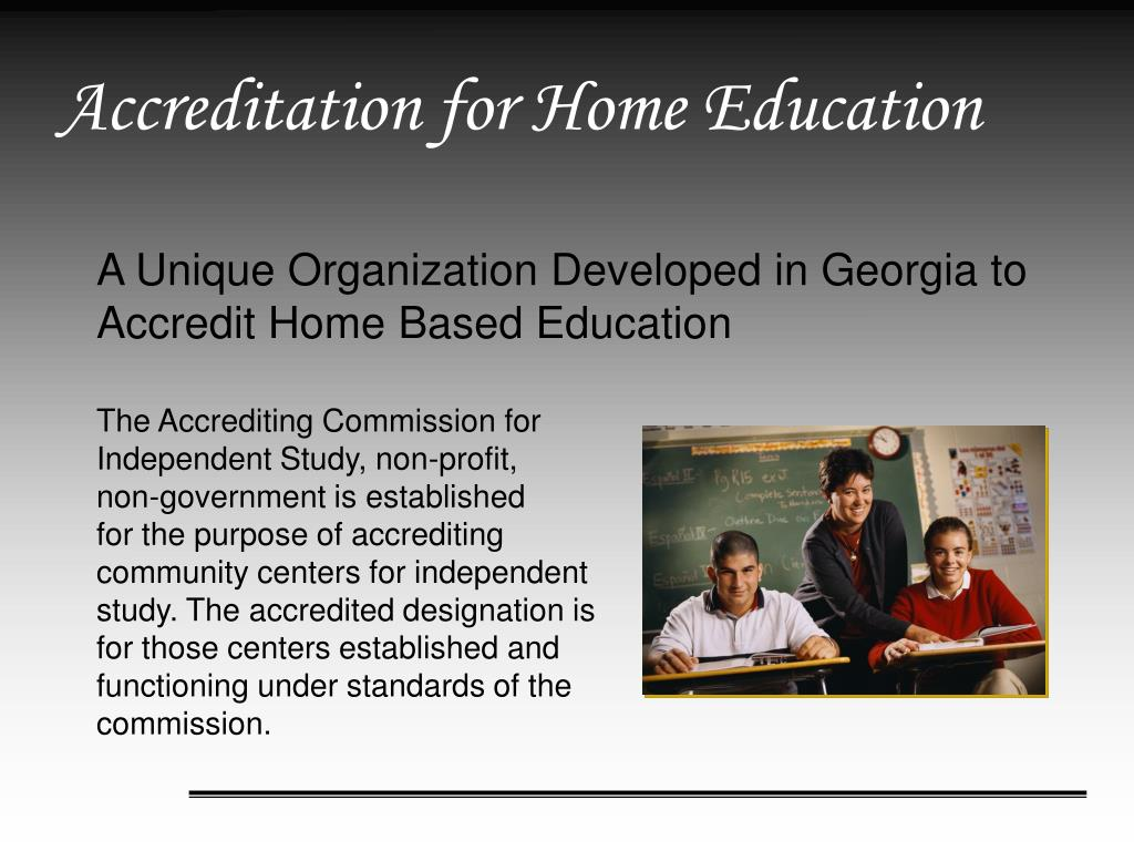 Accreditation for Home Education