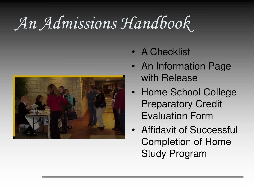 An Admissions Handbook