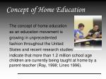 concept of home education