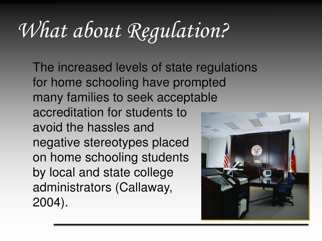 What about Regulation?