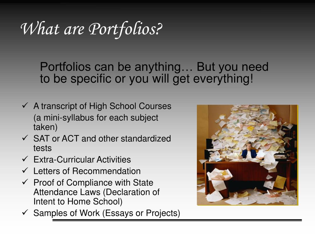 What are Portfolios?