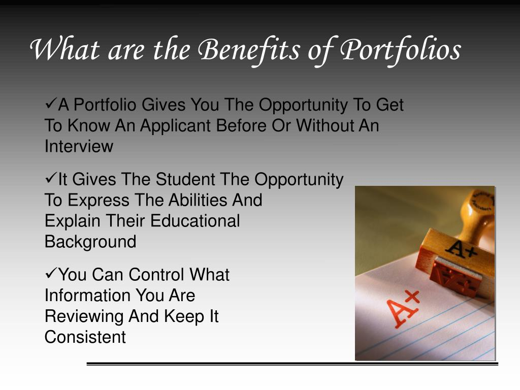What are the Benefits of Portfolios