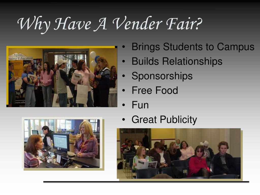 Why Have A Vender Fair?