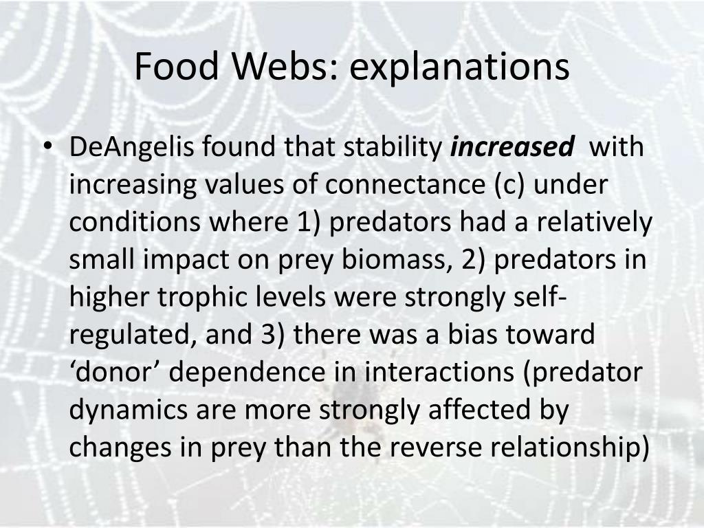 Food Webs: explanations