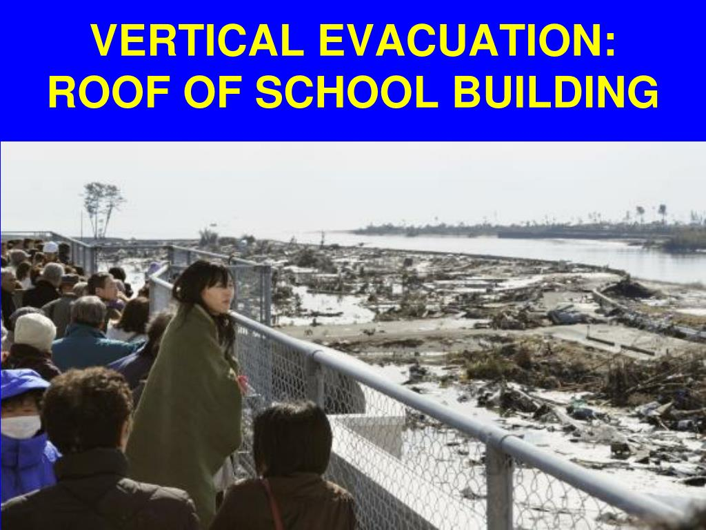 VERTICAL EVACUATION: ROOF OF SCHOOL BUILDING