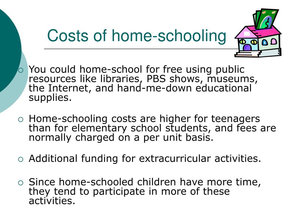 Costs of home-schooling