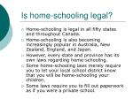 is home schooling legal