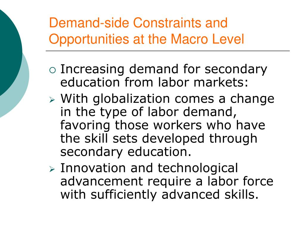 Demand-side Constraints and Opportunities at the Macro Level