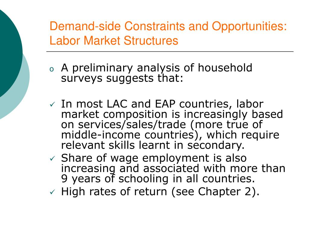 Demand-side Constraints and Opportunities: Labor Market Structures