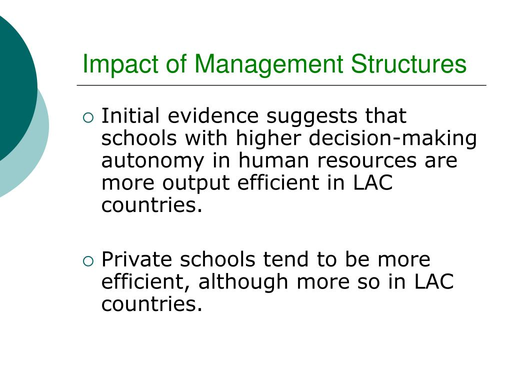 Impact of Management Structures