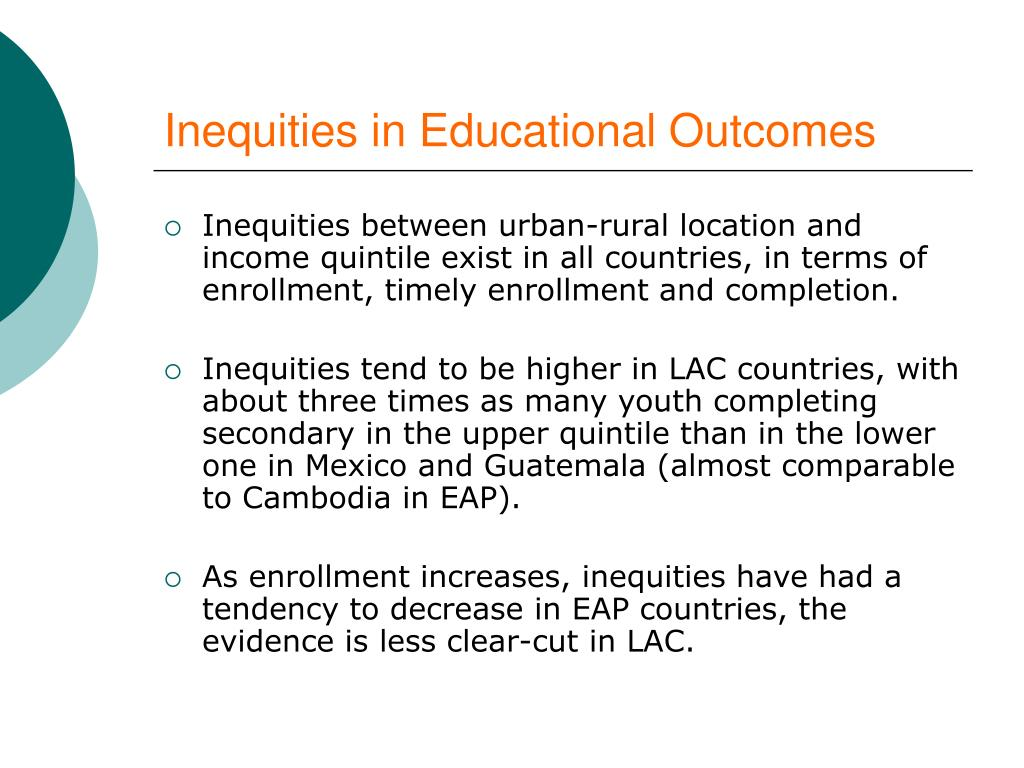 Inequities in Educational Outcomes