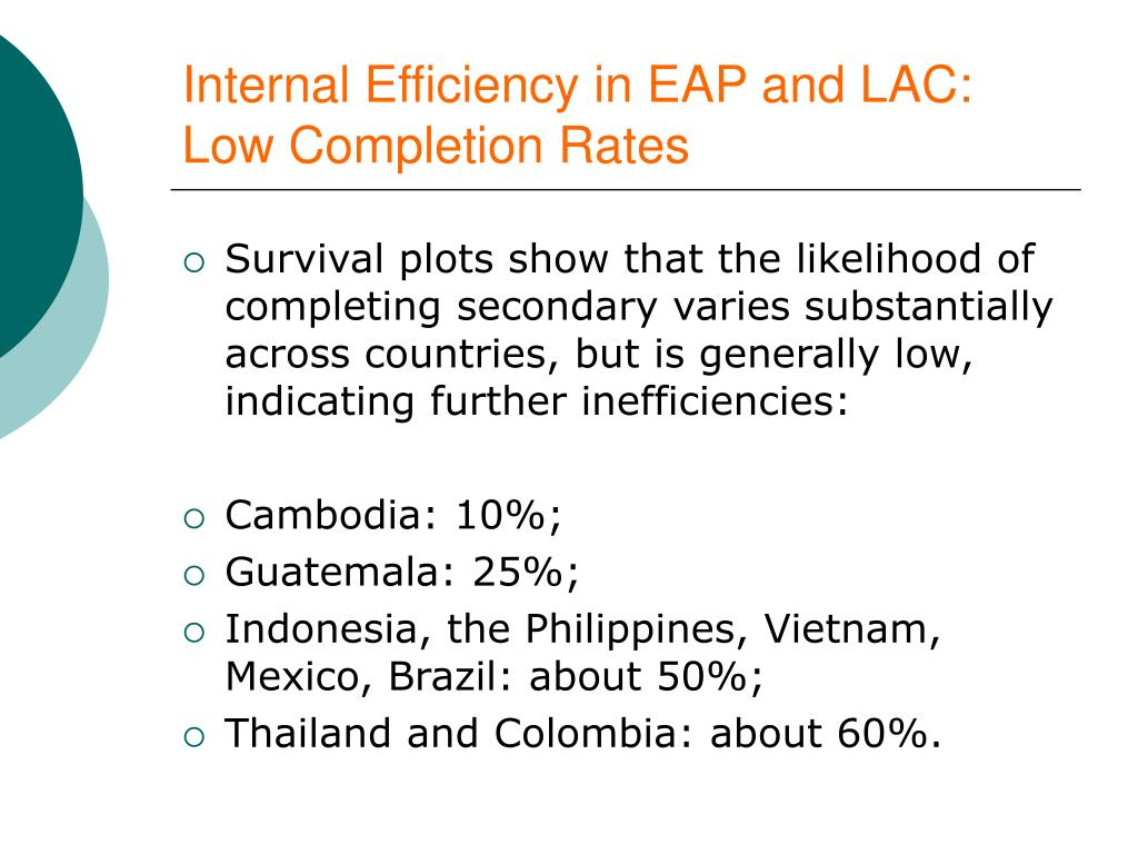 Internal Efficiency in EAP and LAC: Low Completion Rates