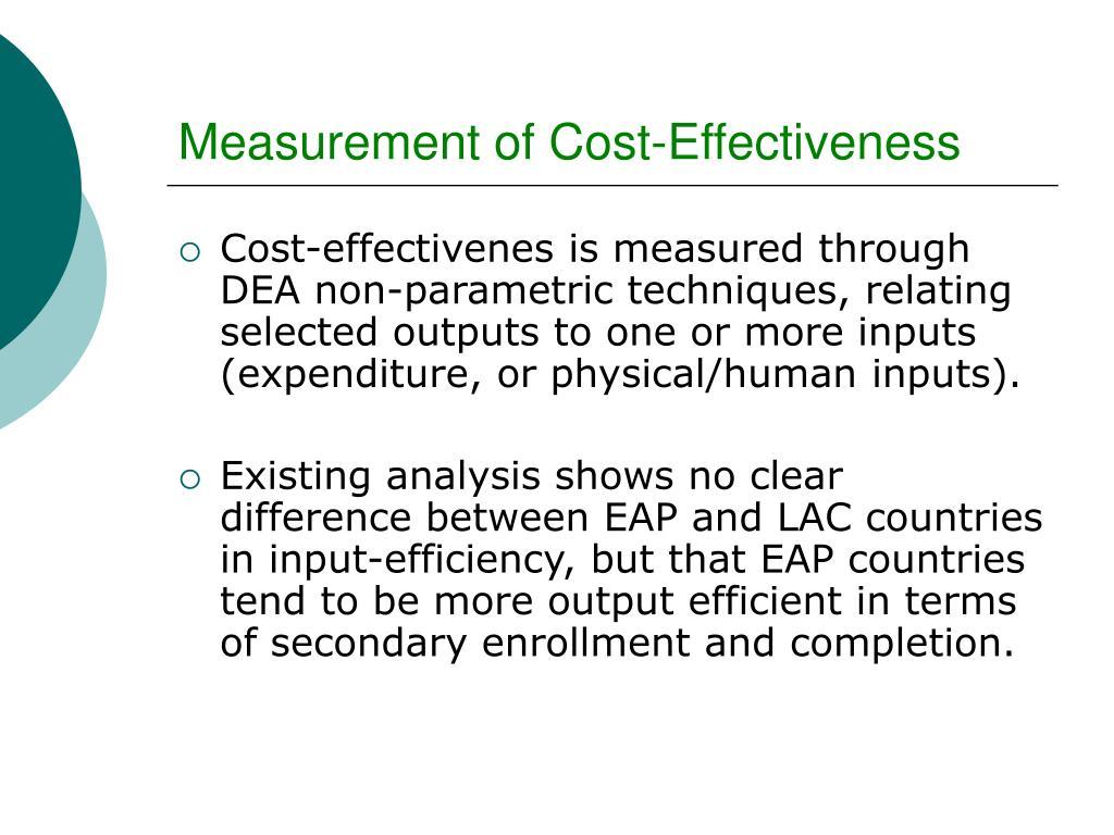 Measurement of Cost-Effectiveness