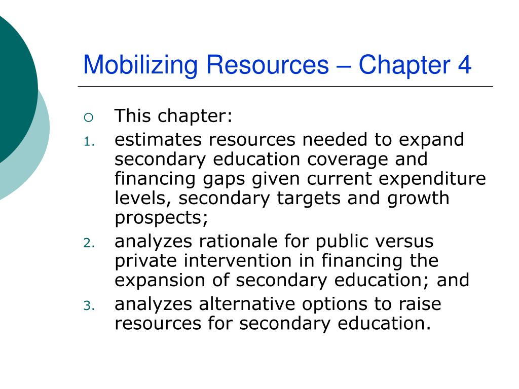 Mobilizing Resources – Chapter 4