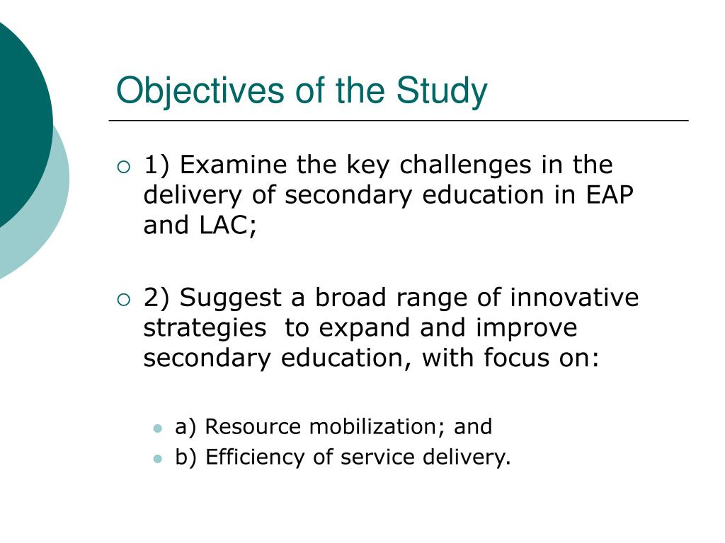 Objectives of the Study