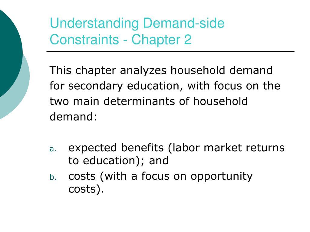 Understanding Demand-side Constraints - Chapter 2