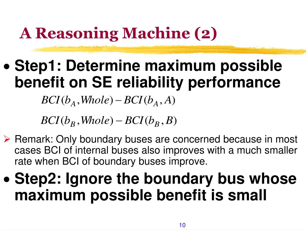 A Reasoning Machine (2)