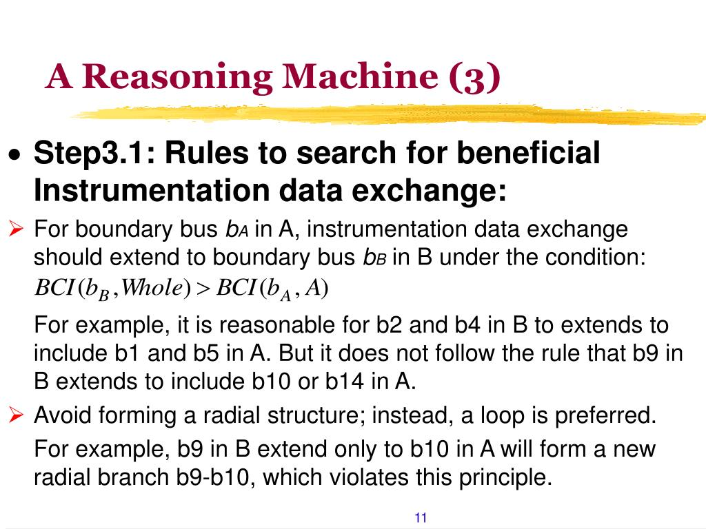 A Reasoning Machine (3)