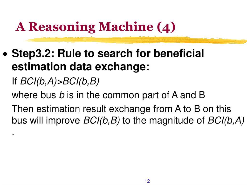 A Reasoning Machine (4)