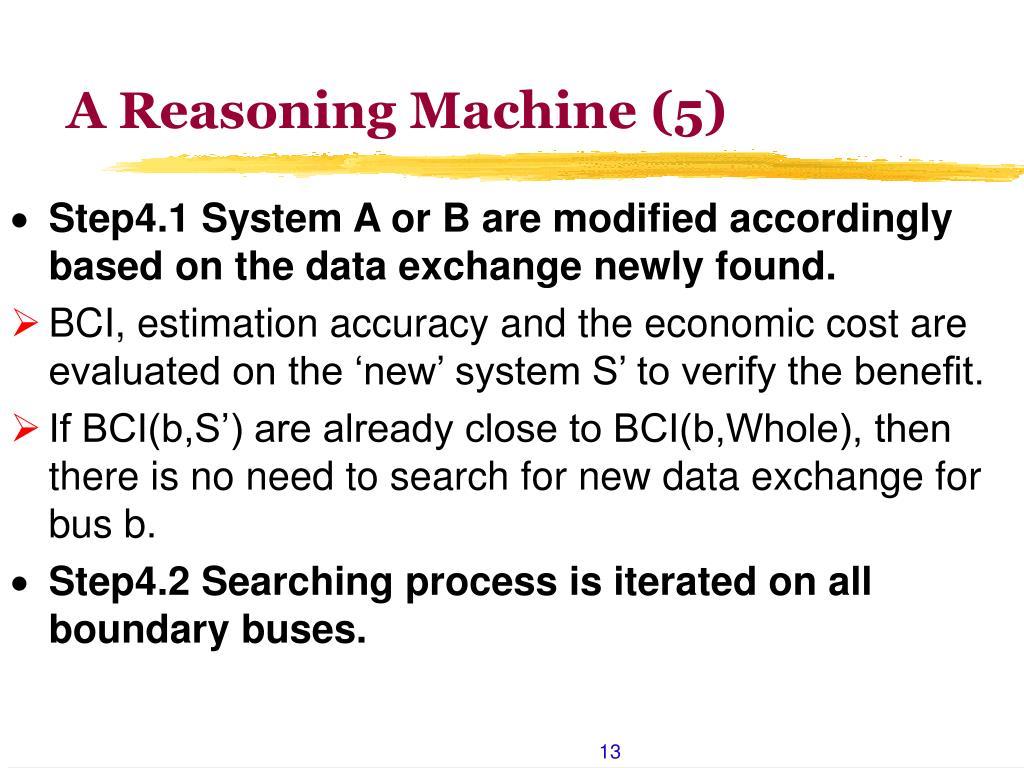 A Reasoning Machine (5)