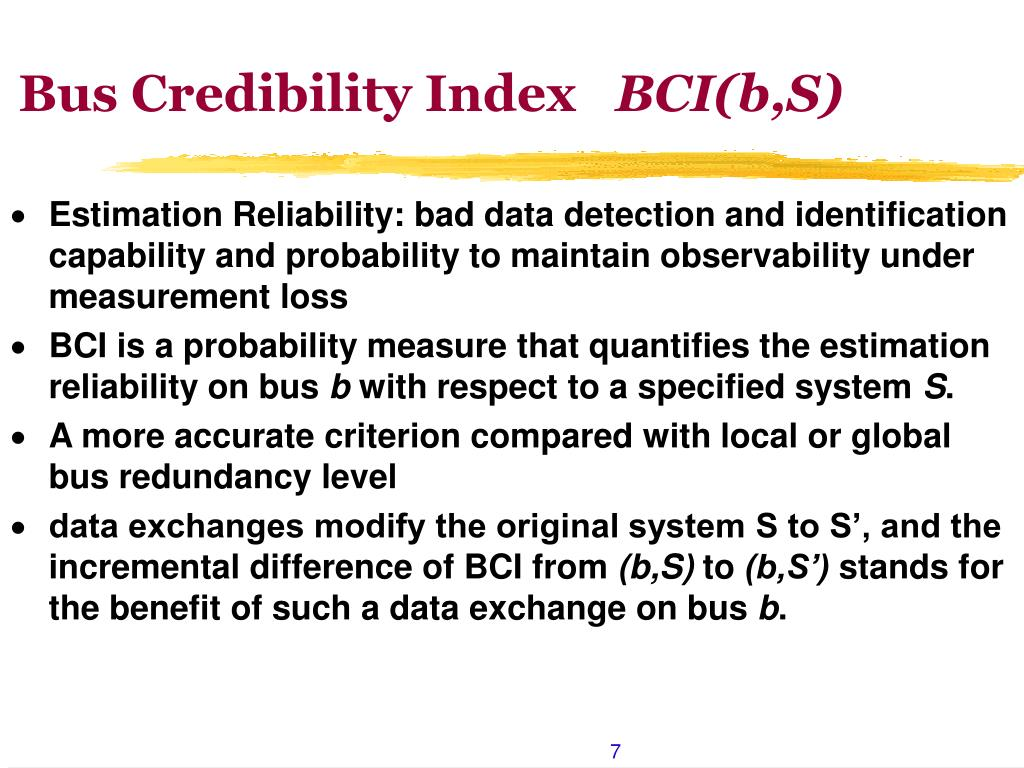 Bus Credibility Index
