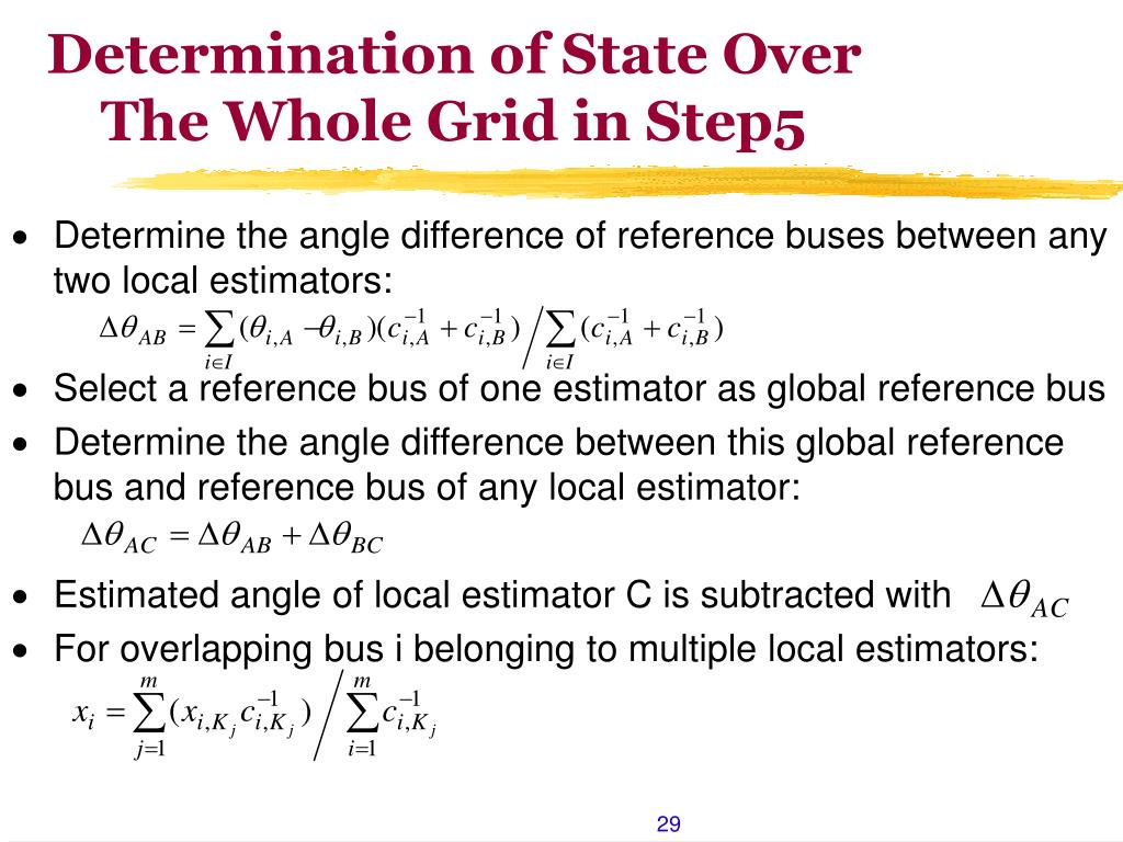 Determination of State Over The Whole Grid in Step5