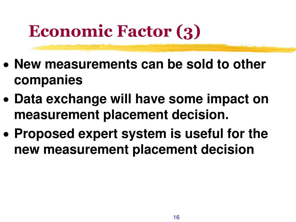 Economic Factor (3)