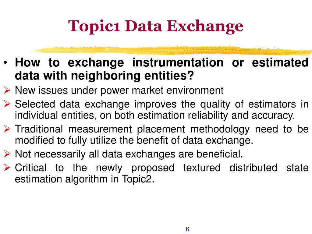 Topic1 Data Exchange