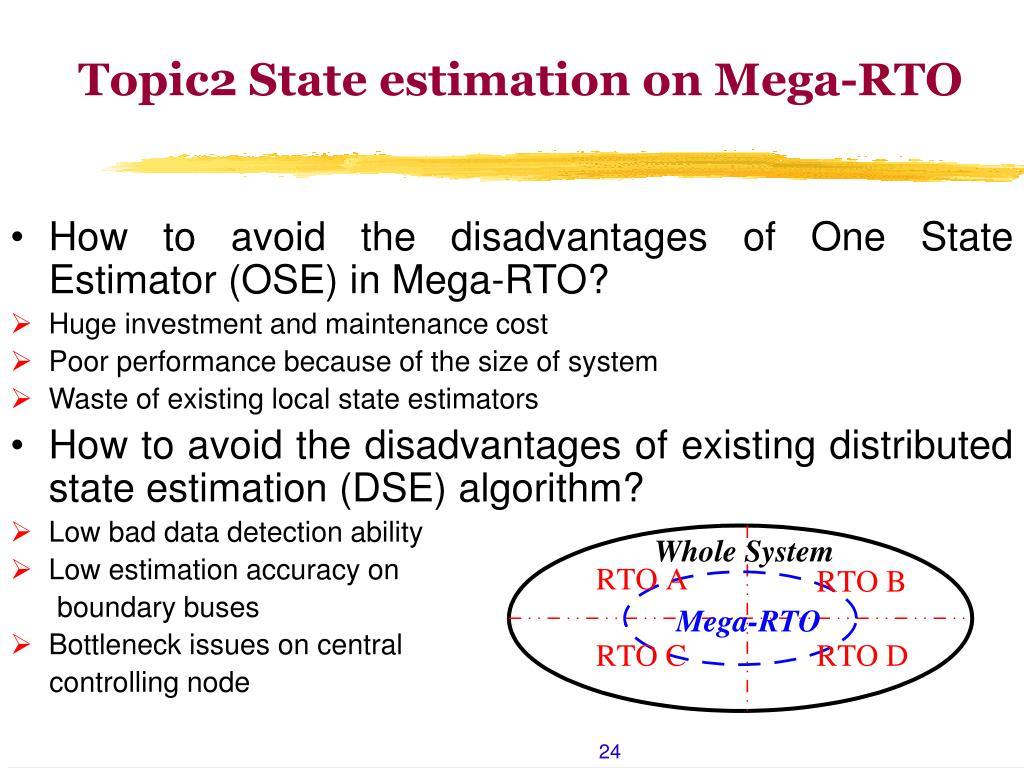 Topic2 State estimation on Mega-RTO