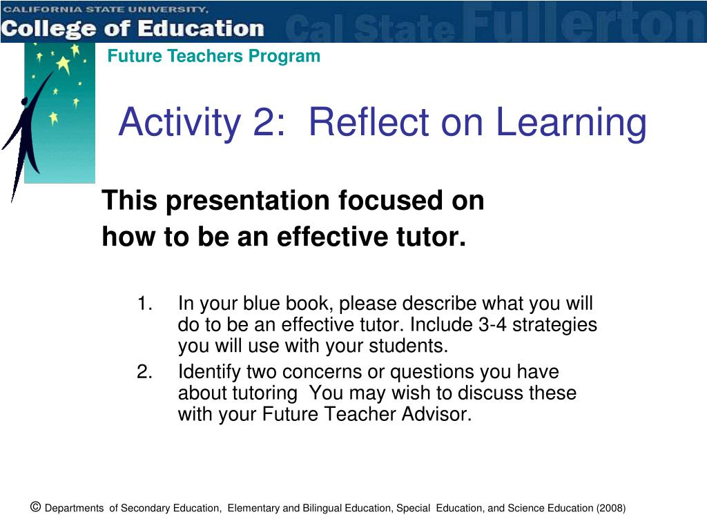Activity 2:  Reflect on Learning