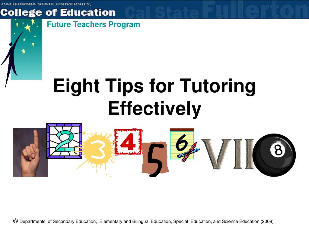 Eight Tips for Tutoring Effectively